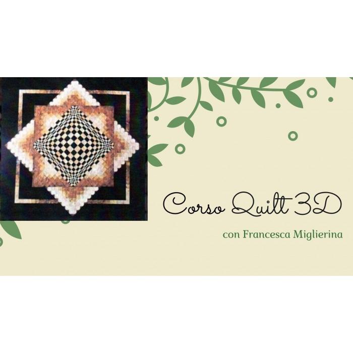 Corso Quilt 3D con kit COMPLETO misura 160x 160