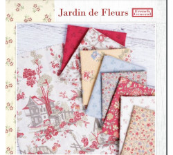 """Jardinj de Fleures by French General charm pack 5"""""""