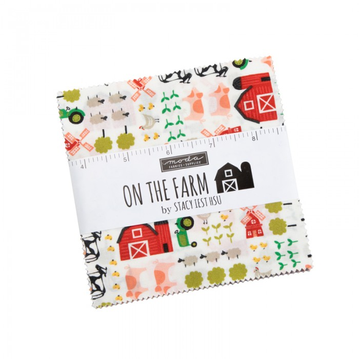 """On the Farm By Stacy Iest Hsu charm pack 5"""""""